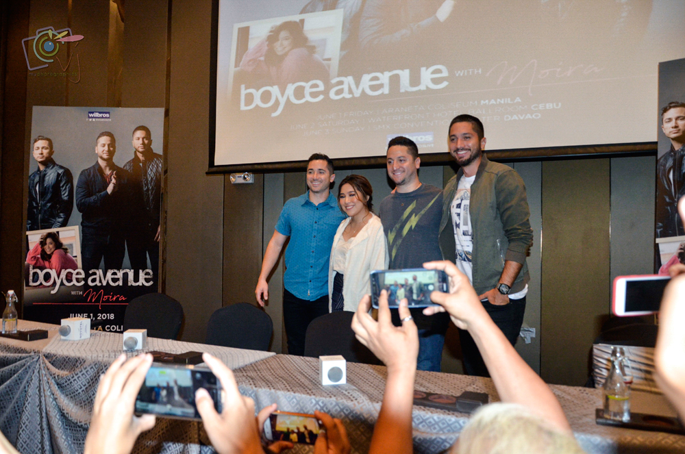 In Photos: Boyce Avenue with Moira Press Con